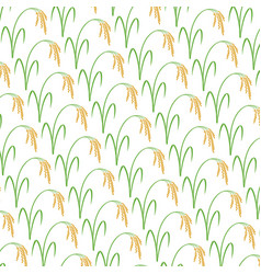background pattern with rice vector image vector image