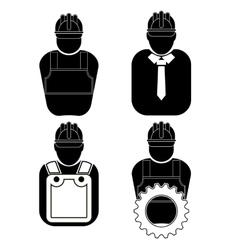 Builder icon set vector