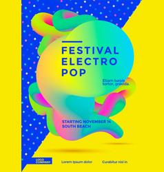 festival electro pop vector image