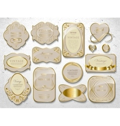 gold card set vector image