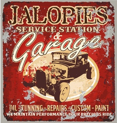 jalopy garage vector image vector image