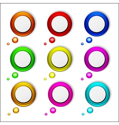 Abstract glossy speech bubbles set vector image