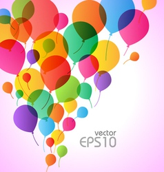balons background vector image vector image