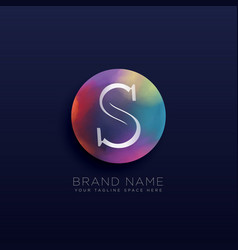 letter s abstract logo concept template vector image