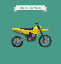 motoctoss bike vector image