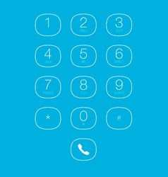 Phone outline keypad for touchscreens vector