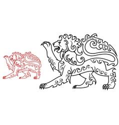Vintage royal lion for heraldry or tattoo design vector image vector image