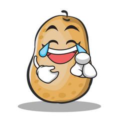 joy potato character cartoon style vector image vector image