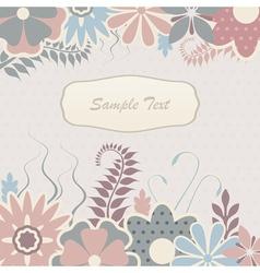 Scrapbook flowers vector image