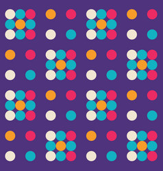 Abstract geometric background design dots vector