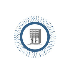 audio control mix mixer studio line icon isolated vector image