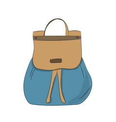 Backpack color vector