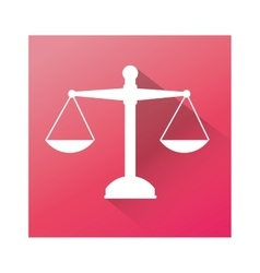 Balance justice isolated icon vector