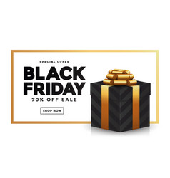 black friday sale banner 2 vector image