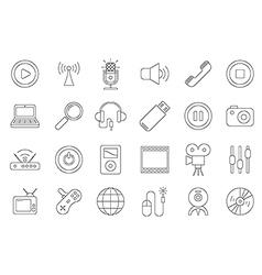black house electronic icons set vector image