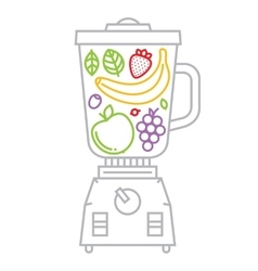 Blender with fruits and berries vector
