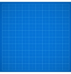 Blue grid paper vector image