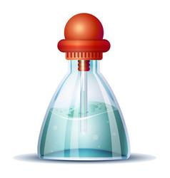 blue vinegar icon cartoon style vector image