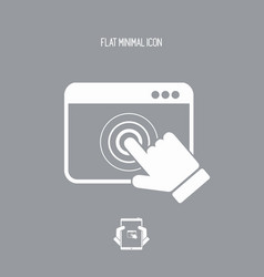 browser touch - flat minimal icon vector image