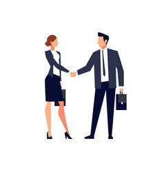 businessmen shake hands isolated vector image