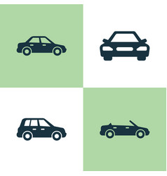 Car icons set collection of convertible model vector
