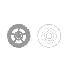Car wheel the grey set icon vector