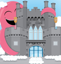 castle animation vector image