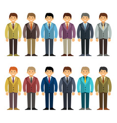 Caucasian office worker or businessman character vector