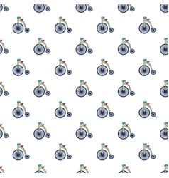 Circus bicycle pattern seamless vector