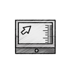 computer screen technology sketch vector image