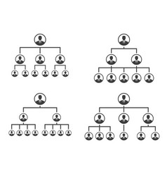 Corporate hierarchy pyramid with team leader vector