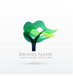 Creative tree logo design vector