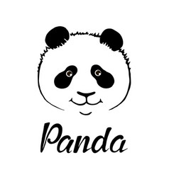 cute panda hand drawn vector image
