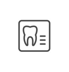 Dental x-ray line icon vector
