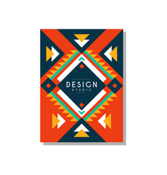 Design ethnic style card ethno tribal geometric vector