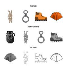 Design of mountaineering and peak sign vector