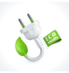 Ecology symbol plug vector image