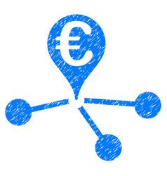 Euro bank branches grunge icon vector