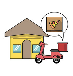 fast food order and delivery online vector image