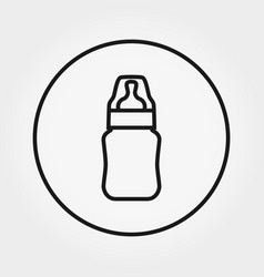 feeding bottle universal icon editable vector image
