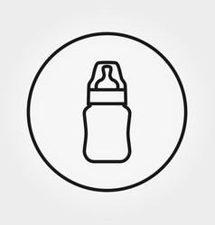 feeding bottle universal icon editable vector image