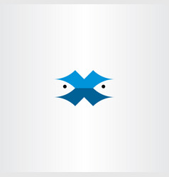 fish letter x logo symbol vector image