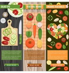Fresh Vegetables Banners Set vector