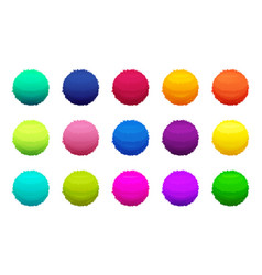 furry colored balls pictures set vector image