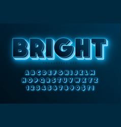 futuristic sci-fi alphabet extra glowing space vector image