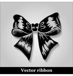 Gift bows with ribbons black color vector image