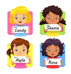 Girls Name 1 vector