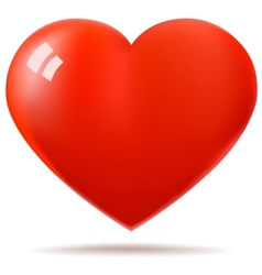 Glossy red heart vector image