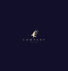 golden logo on which an abstract image vector image
