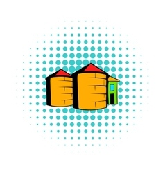 Granaries for storing comics style vector